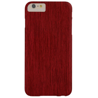 Red Grainy Faux Wood Background Barely There iPhone 6 Plus Case