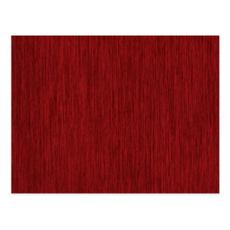 Red Grainy Wood Background Postcard