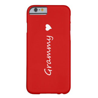 Red Grammy With Heart Barely There iPhone 6 Case