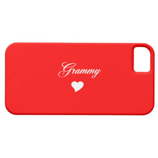 Red Grammy With Heart iPhone 5 Covers