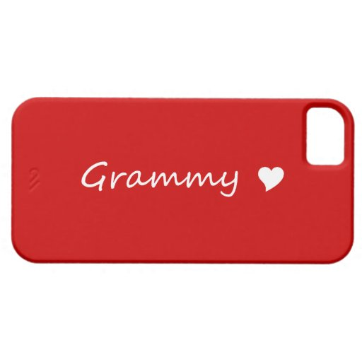 Red Grammy With Heart iPhone 5 Case