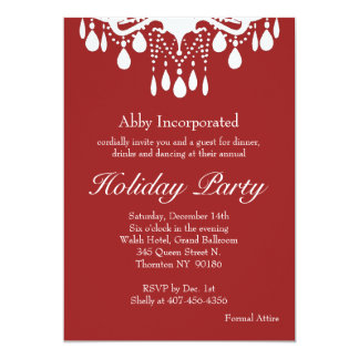 Red Grand Ballroom Holiday Invitation