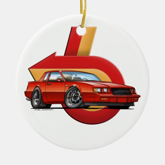 Red Grand National Ceramic Ornament