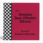 "Red Grandmas Kitchen 1.5"" Custom Recipe 3 Ring Binders"