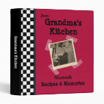 """Red Grandmas Kitchen 1"""" Custom Photo Recipe Binder"""