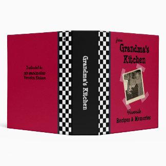 """Red Grandmas Kitchen 2"""" Custom Photo Recipe Binder"""