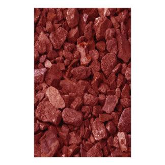 Red Granite Rock Stationery
