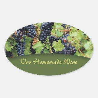 Red Grape Wine Sticker