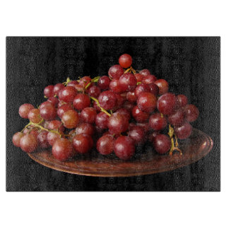 Red Grapes Cutting Board