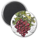 Red Grapes Fridge Magnet