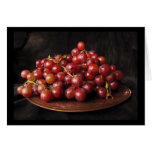 Red Grapes Greeting Cards