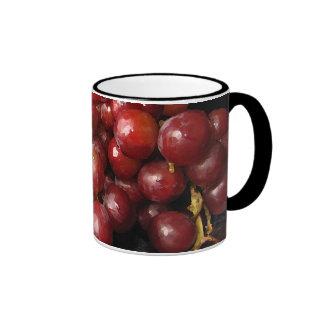Red Grapes Ringer Coffee Mug