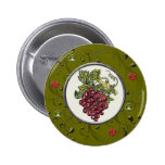 Red Grapes Pinback Buttons