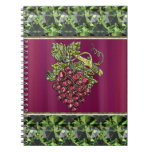 Red Grapes Spiral Note Books