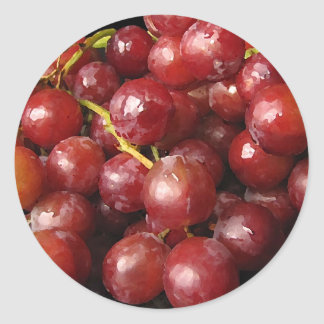 Red Grapes Classic Round Sticker