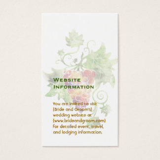 Red Grapes Watercolor Website Information Cards