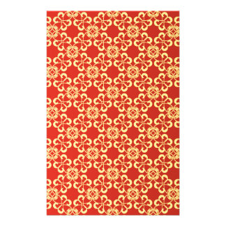Red graphic Pattern Stationery