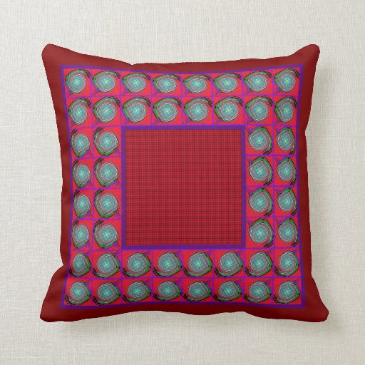 Red Graphic Throw Pillow Zazzle
