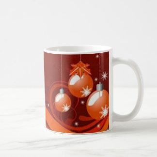 Red graphics for Christmas - Tazas