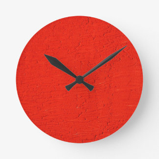 red Graphite Abstract Antique Junk Style Fashion A Round Wall Clocks