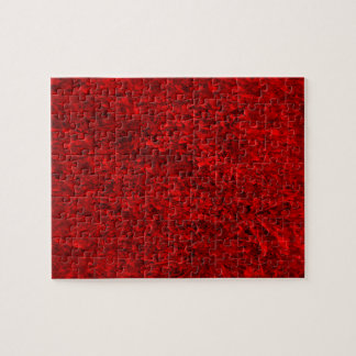 Red Grass Pattern Jigsaw Puzzle