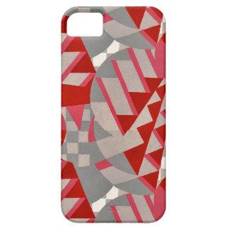 Red / gray 1920s Deco design iPhone SE/5/5s Case