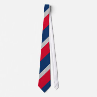 Red Gray and Blue Tie