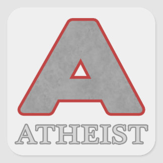 "Red & Gray Atheist ""A"" Stickers"