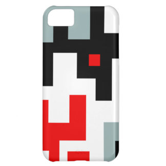 Red Gray Black White Mod Geometric iPhone 5 Case