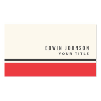 Red gray border modern stylish business card templates