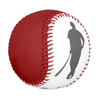 Red Gray Champion Coach Personalized Baseball