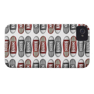 Red & Gray Classic Sneaker Pattern Phone Case iPhone 4 Cover