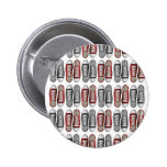 Red & Gray Classic Sneaker Pattern Pinback Button