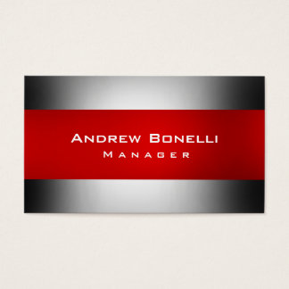 Red Gray Creative Manager Business Card