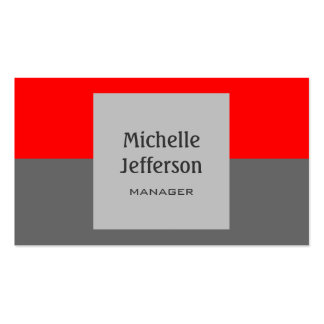 Red Gray Horizontal Stripes Pattern Business Card