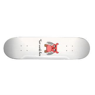 Red gray owl skate decks