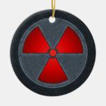 Red & Gray Radiation Symbol Ornament