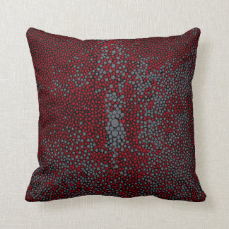 Red & Gray Shagreen Throw Pillow