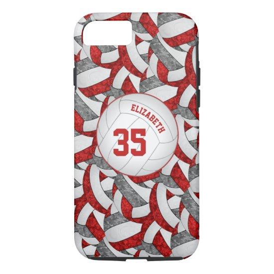 red gray team spirit girls' volleyball iPhone 8/7 case
