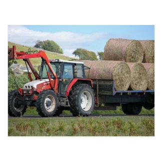 Red Grays Linkon Tractor Postcard