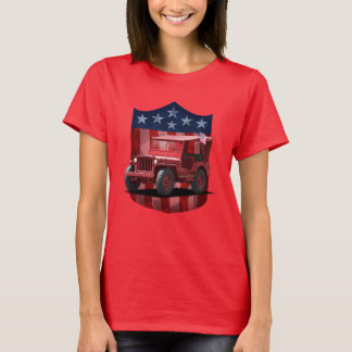 Red great American Shield MJ olllllllo Ladies T T-Shirt