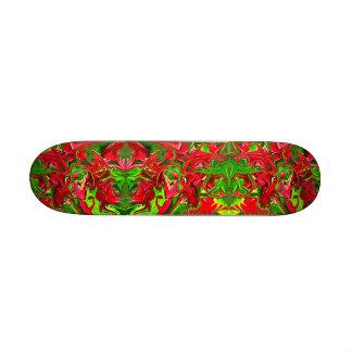 red green abstract art skateboard