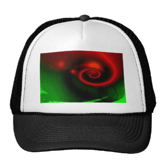 Red Green Abstract Painting Trucker Hat