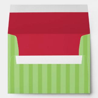 Red & Green Addressed Christmas Card Envelopes Envelopes