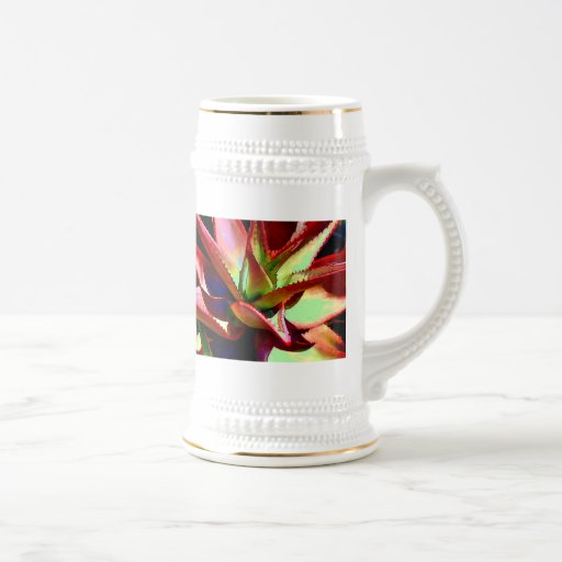 Red & Green Agave Beer Stein
