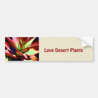 Red & Green Agave Bumper Sticker