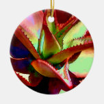 Red & Green Agave Christmas Ornaments