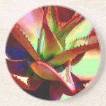 Red & Green Agave Drink Coaster