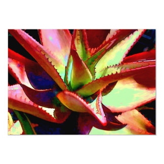 Red & Green Agave Invite