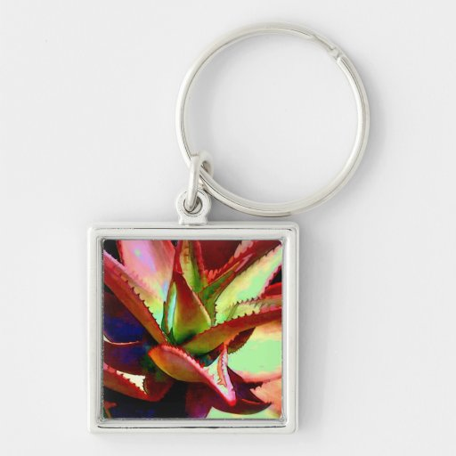 Red & Green Agave Keychains